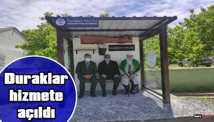 Kağızman'da Modern  Duraklar Hizmete Açıldı