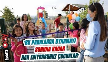 Kars Belediyesi Çocuk Parklarını Açtı