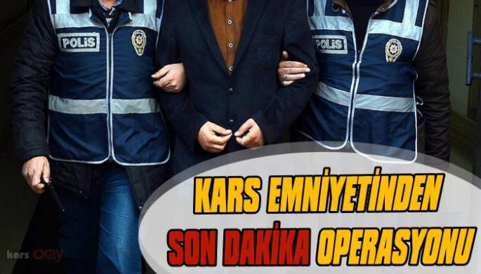 Kars Emniyetinden 'Garanti Kupon' Operasyonu, 17 Gözaltı!