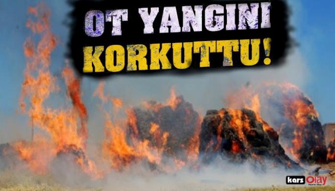 Kars'ın Kağızman İlçesinde  Korkutan Ot Yangını!