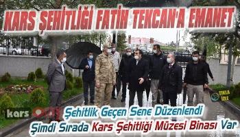 Kars Şehitliği Fatih Tekcan'a Emanet