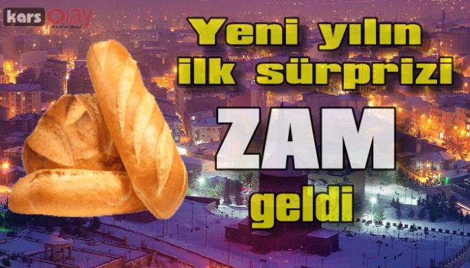 Kars'ta ekmeğe 25 krş zam yapıldı.