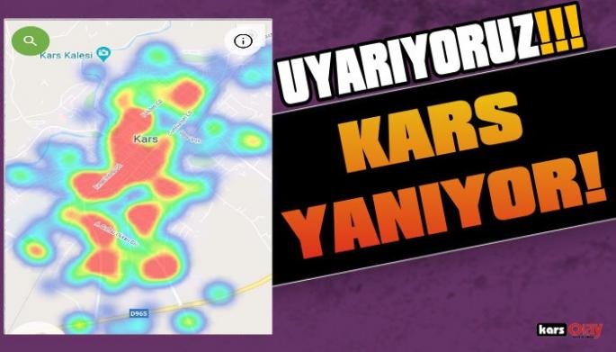 Kars'ta Koronavirüs Haritası Kıpkırmızı Oldu!