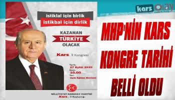 MHP Kars İl Kongresinin Yapılacağı Tarih Belli Oldu