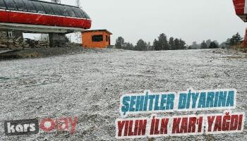 Şehitler Diyarına Yılın İlk Kar'ı Yağdı