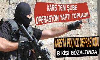 Kars'ta PKK/KCK Operasyonu 8 Gözaltı