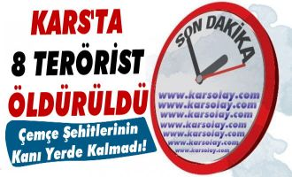 Son Dakika!... Kars'ta 8 Terörist Öldürüldü