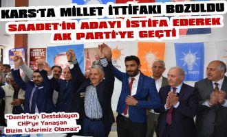 Son Dakika! Kars Saadet Partisi 1. Sıra Adayı İstifa Ederek Ak Partiye Katıldı
